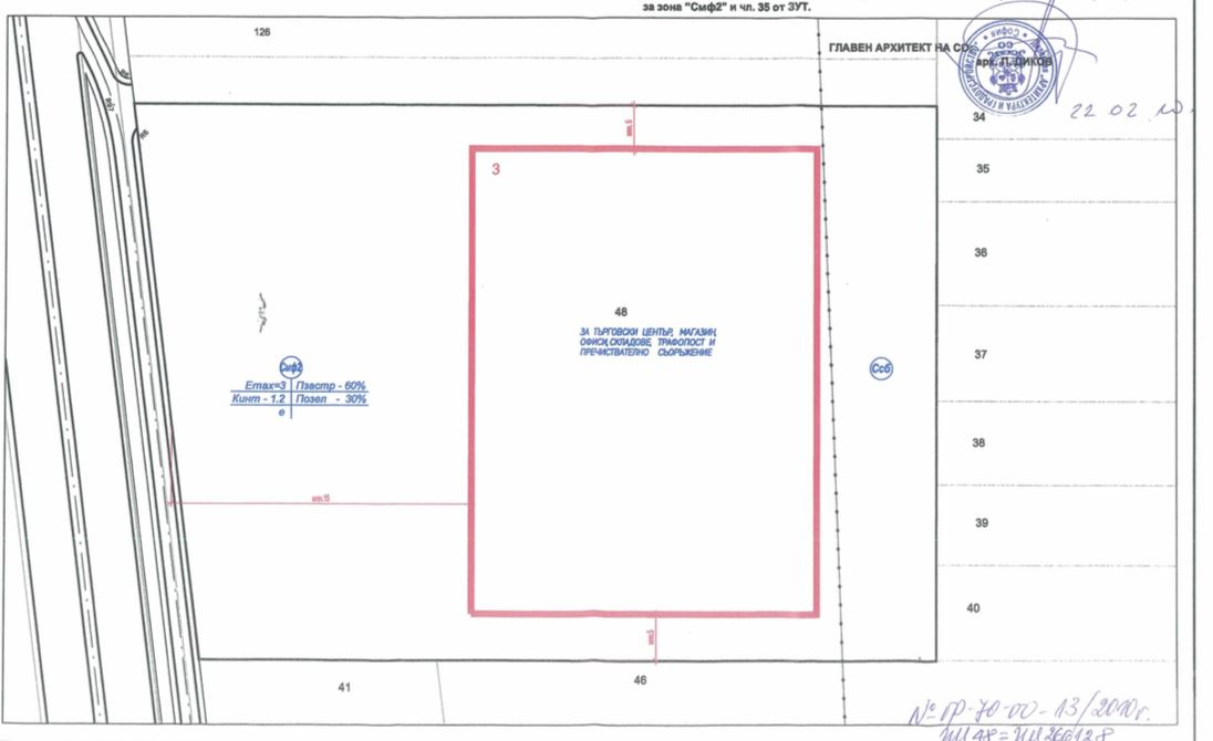 Plot of land in industrial part of Sofiq with face on Ring Road